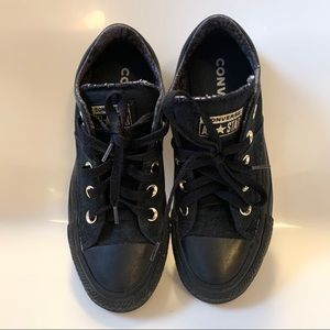 Black with gold converse